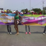 Día del trabajo, foto #2: ¡Discriminar a la población LGBT es un delito! Ley 1482 de 2011.