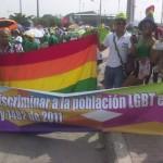 Día del trabajo, foto #4: ¡Discriminar a la población LGBT es un delito! Ley 1482 de 2011.