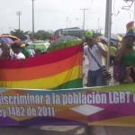 Día del trabajo, foto #5: ¡Discriminar a la población LGBT es un delito! Ley 1482 de 2011.