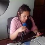 Auxiliar de Investigación Ángela González Zambrano promocionando e invitando a la Construcción de la Política Pública para la Diversidad Sexual e Identidades de Género diversas por un Nariño - Mejor en la Radio Hospedaje del Sol - Municipio El Tambo.