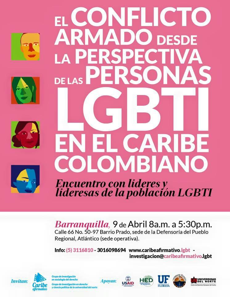 El conflicto armado desde la perspectiva de las personas LGBTI en el caribe Colombiano - Encuentro de lideres y lideresas de la población LGBTI.