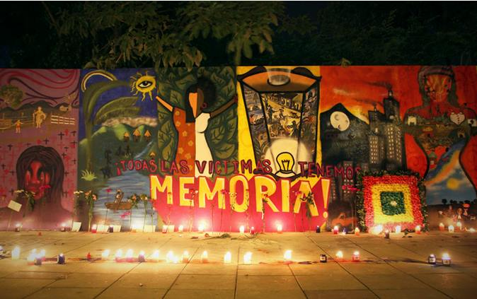Mural: ¡todas las víctimas tenemos memoria!